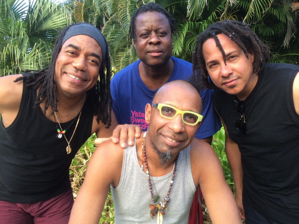 Clockwise from left: Ernesto Simpson, Childo Tomas, Leandro Saint-Hill, Omar Sosa