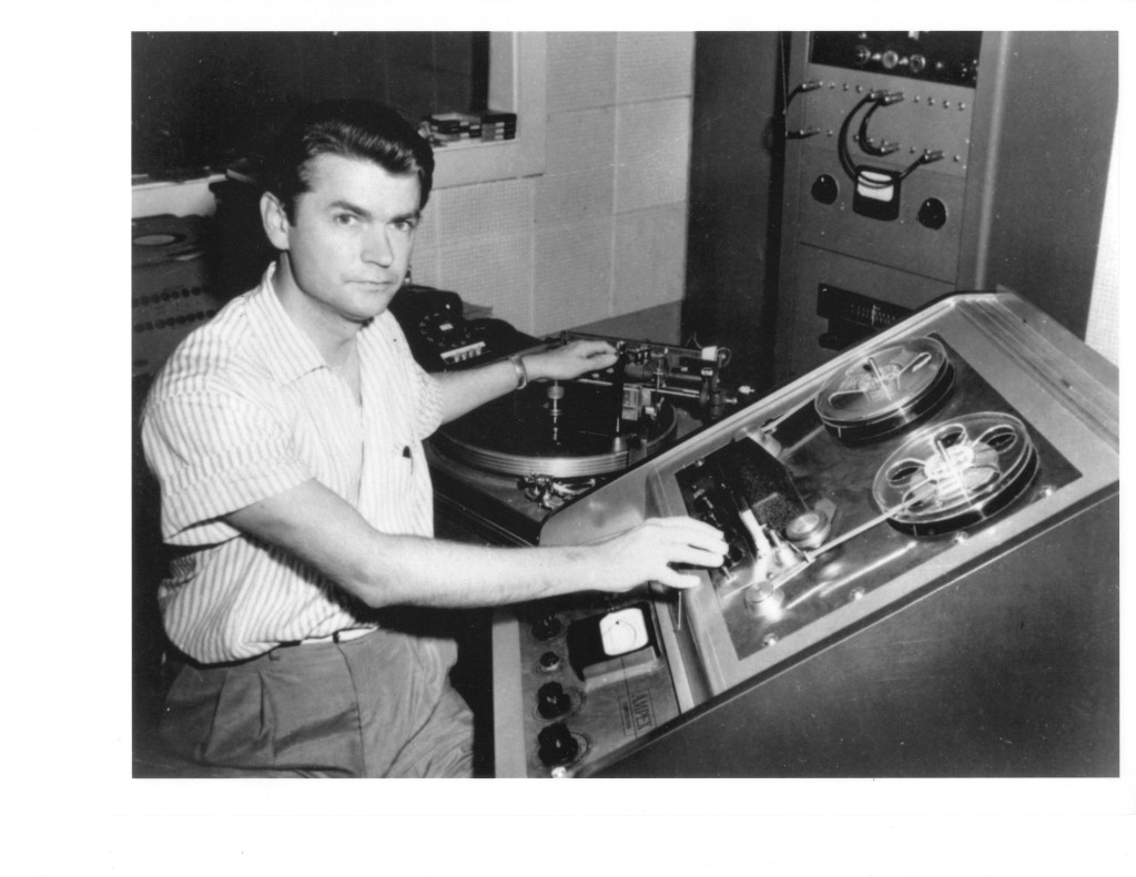 Sam Phillips at the controls. Courtesy of the Sam Phillips Family.